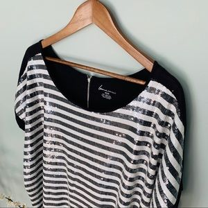 Lane Bryant Striped Sequin Top NWT Size 26/28